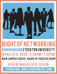 networking flyer news events school of business stockton university
