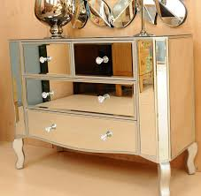 Mirrored Glass Bedroom Furniture Palazzo Large Mirrored Chest Of Drawers Multi 6 Drawer Bedroom