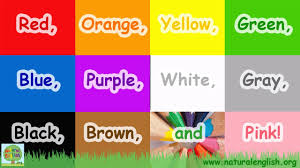 The Colors Song ~ Learn the Colors / Colours ~ Simple Learning for Children  ~ by Natural English - YouTube