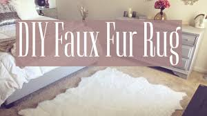 Fabric Rug Diy Diy Faux Fur Rug Youtube