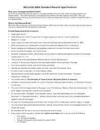 Standard Format Resume Impressive Inspiration Standard Resume
