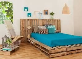 wooden pallets furniture ideas. Reuse Pallet Bed Frame Upcycling Bedroom Design Cheap Materials Pillows Diy Decoration Wooden Pallets Furniture Ideas