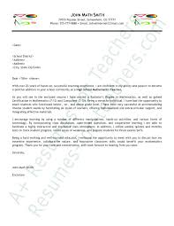 Education Cover Letter Samples Example Of Cover Letters For Teachers