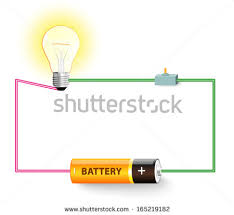 electric circuit diagram stock images, royalty free images Bulb Wiring Diagram simple electric circuit electrical network switch, light bulb, wire and battery light bulb socket wiring diagram
