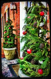 Plaid Christmas Tree Tomato Cage Porch Trees Wrap Garland A Round Tomato Cages Secure
