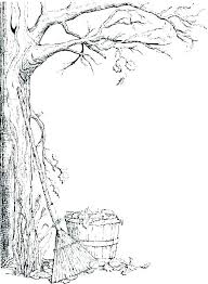 Fall Trees Coloring Pages Tree With Roots Coloring Page Fall Pages