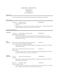 Recreation Therapist Resume Free Resume Example And Writing Download