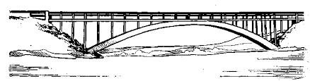 Реферат Искусственные сооружения на автомобильных дорогах  Железнодорожный железобетонный мост через