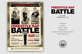 flyer rap free freestyle rap battle flyer template v5 design bundles