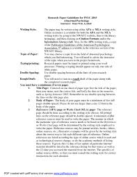 005 Psychology Essay Writing Example Research Paper In Apa