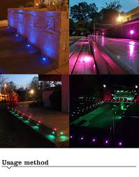 Rgb Led Landscape Lighting Ywxlight 8led Rgb Led Ip67 Outdoor Waterproof Deck Light Ac100 240v