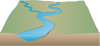 river d  with stream   freshwater   vector illustration drawing    river d    stream illustration of river base   stream confluence symbol vector