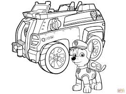 Paw Patrol Chase Police Car Coloring Page At Paw Patrol Coloring