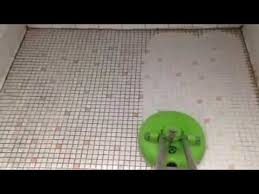 old bathroom tile cleaning