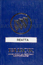 reatta manual 1990 buick reatta owners manual 90 mint original owner guide book oem