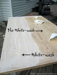 whitewash wood furniture. East Coast Creative: Refinished Dining Room Table // Would Love To Do This On Upper Cabinets Instead Of Painting, So That The Wood Grain Runs Throughout Whitewash Furniture N