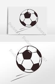 手描き漫画サッカーイラスト要素 グラフィック要素のテンプレートpsdの