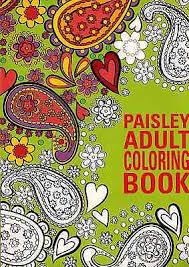 coloring book paisley new