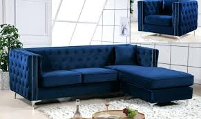 blue velvet sectional meridian furniture modern navy blue velvet reversible royal blue velvet sectional sofa