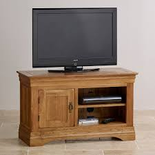 Small Tv Cabinets French Farmhouse Tv Cabinet Solid Oak Oak Furniture Land