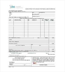 Travel Invoice Templates Doc Excel Free Premium Travel