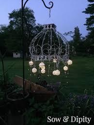 diy outdoor chandelier 2