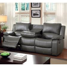leather reclining sofas. Exellent Leather Furniture Of America Rembren Grey Bonded Leather Reclining Sofa Throughout Sofas