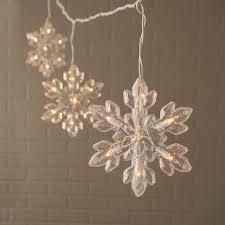 Outdoor String Lights Snowflake Indoor/Outdoor White - Walmart.com