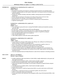 Sample Resume For Marketing Job Marketing Administrative Assistant Resume Samples Velvet Jobs S 78
