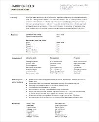 Librarian Resume Sample Template 8 Librarian Resume Templates Pdf