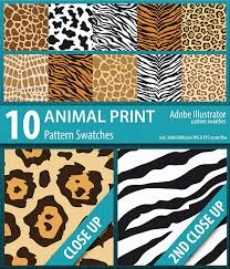 Illustrator Pattern Swatches Inspiration 48 Animal Print Pattern Swatches By DoucetteDesigns GraphicRiver