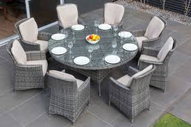 round outdoor dining sets. Modren Dining MODA Furnishings Outdoor Wicker Furniture  Nassau 8 Seat Round Dining Set Intended Sets I