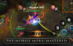 mobile games like dota and lol