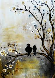 classical love birds painting by jennifer carter