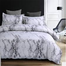 2018 stone pattern comforter bedding set queen size reactive printing beddings 2 3pcs white and black marble duvet cover sets 39
