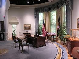 bush oval office. George Bush Presidential Library And Museum: Oval Office Replica E