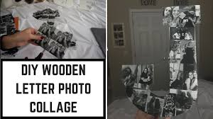 diy wooden letter photo collage erin pitcher