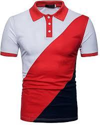 generic mens fashion striped short sleeve polo shirt summer new casual polo shirts white