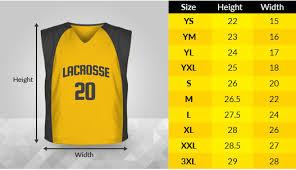 Uniform Sizing Charts Nky Lacrosse Club