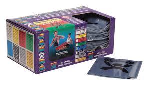 Box Of Light Band Cando Latex Free Exercise Band Box Of 40 4 Length Blue Heavy