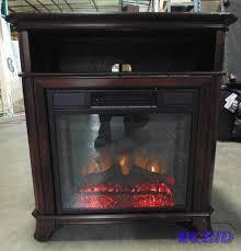febo flame 62 in w 5 120 btu black wood and metal fan