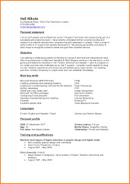 personal statement in resume resume sample - How To Write A Personal  Statement For A Resume