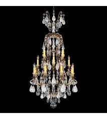 schonbek 3582 23cl renaissance rock crystal 17 light 28 inch etruscan gold chandelier ceiling light