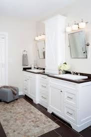 bathroom remodel maryland. clean white bathroom remodel with his and hers vanities in n. potomac, md maryland