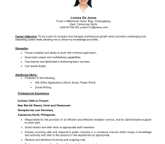 resume simple example simple resume template best collection free cv style design ideas