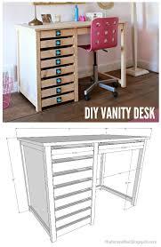 woodworking plans modern furniture. diy vanity desk with simpson strongtie hardware pulls woodworking plans modern furniture l