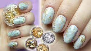 Marble Nails With Gold Foil Mramor By Ruscona Ruscona