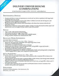 Resume Format For Courier Company Delivery Driver Combination Resume