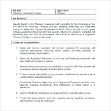 Pharmacist Duties Pharmacy Technician Job Description For Resume ...