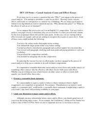 essay examples of cause and effect essays topics help with